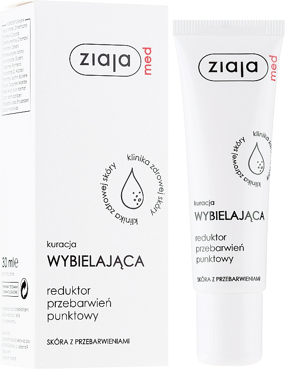Crema locale antipigmento - Ziaja Med Whitening Treatment Reducing Stain Point