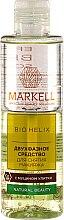 Profumi e cosmetici Struccante bifasico con estratto di bava di lumaca - Markell Cosmetics Bio Helix
