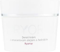 Profumi e cosmetici Crema viso con olio di amaranto ed estratto di seta, da giorno - Ryor Ryamar