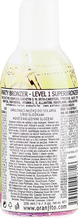Latte abbronzante nel solarium - Oranjito Level 1 Party Tanning Lotion — foto N2