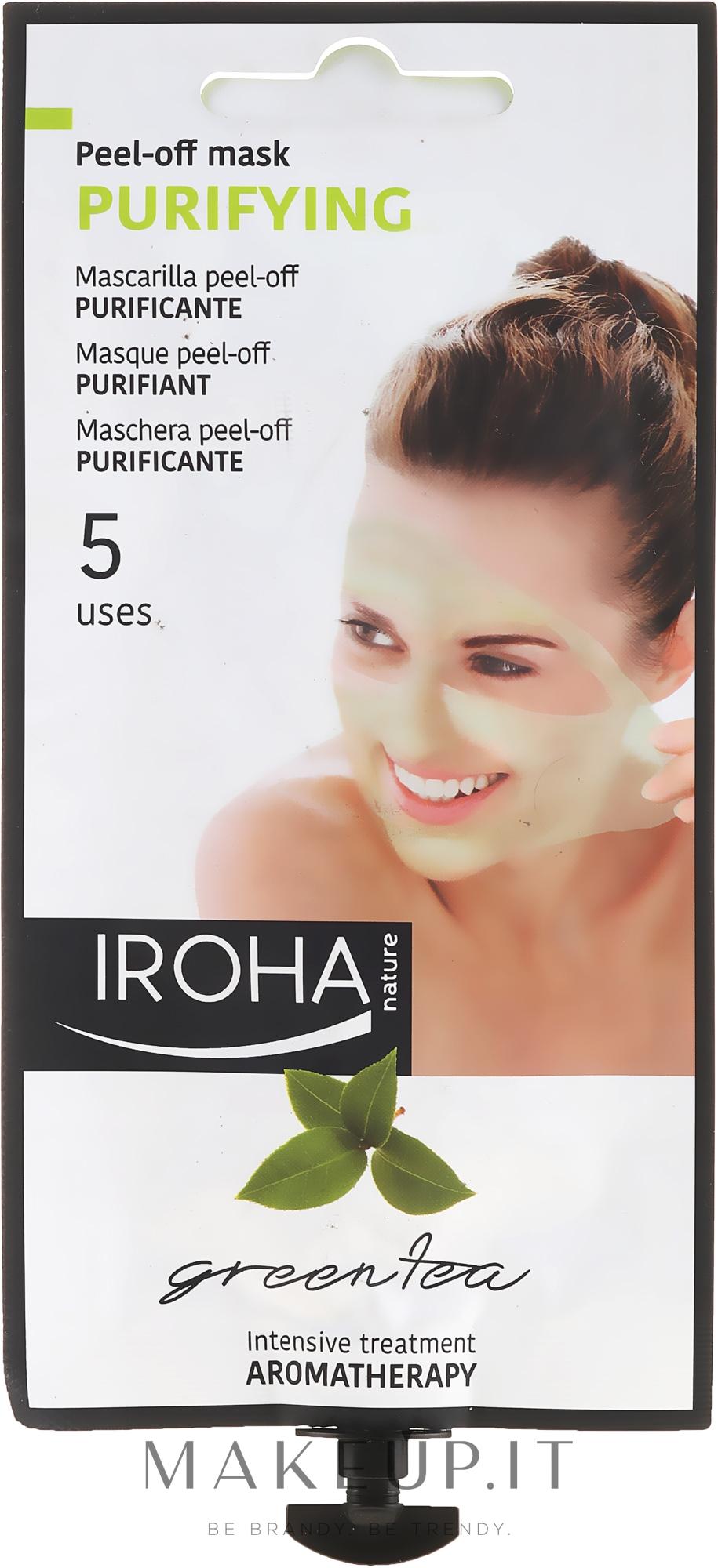 Maschera viso - Iroha Nature Green Tea Purifying Peel-Off Mask — foto 25 g