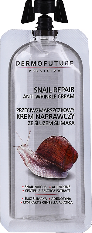 Crema antirughe alla bava di lumaca - Dermofuture Snail Repair Anti-Wrinkle Cream