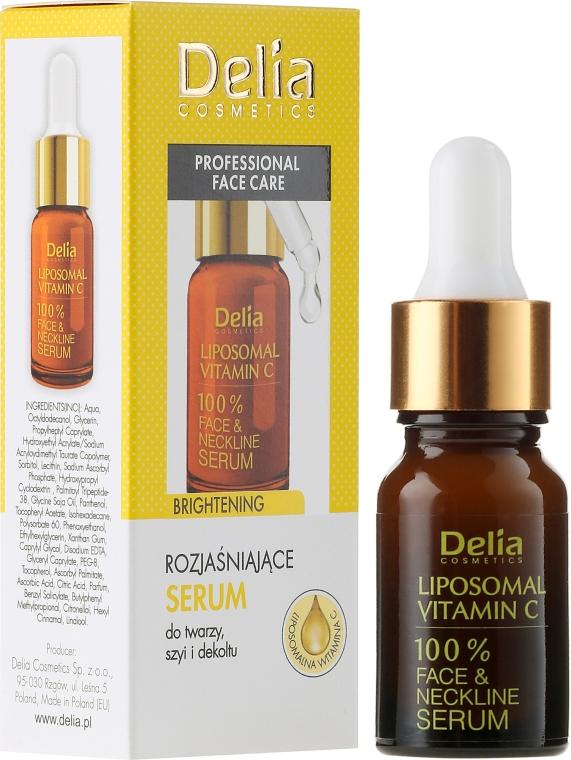 Siero ad elevato contenuto di vitamina C - Delia Liposomal Vitamin C 100% Face Neckline Serum Anti Wrinkle Treatment