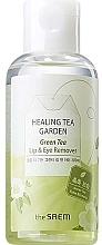 Profumi e cosmetici Struccante per occhi e labbra con estratto di tè verde - The Saem Healing Tea Garden Green Tea Lip & Eye Remover