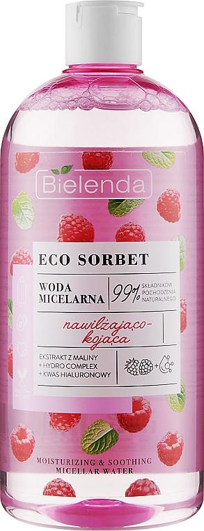 Acqua micellare con estratto di lampone - Bielenda Eco Sorbet Moisturizing & Soothing Micellar Water