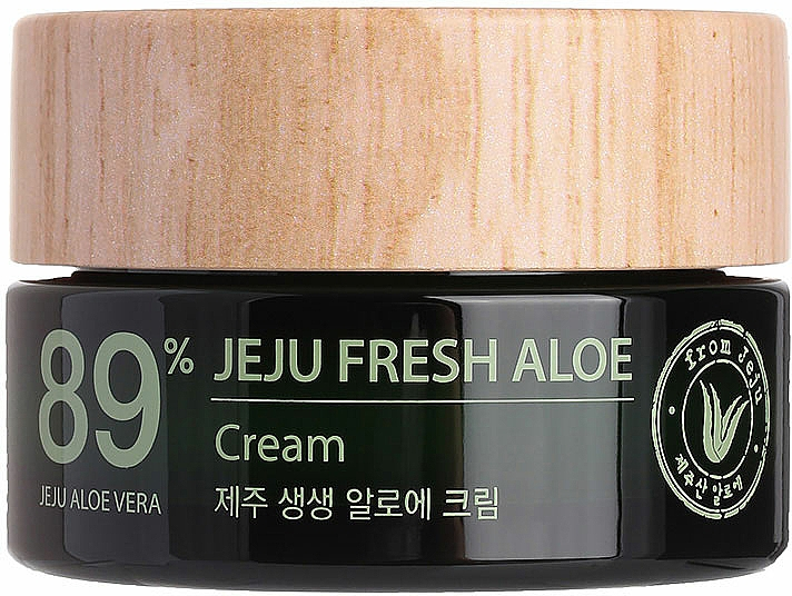 Crema idratante rinfrescante con 89% succo di aloe vera - The Saem Jeju Fresh Aloe Cream