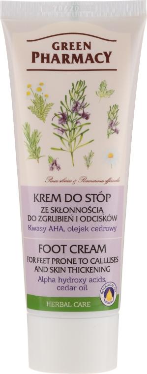 "Crema piedi ""AHA-acido e olio di cedro"" - Green Pharmacy"