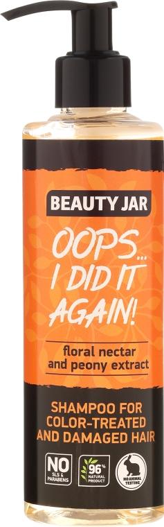 """Shampoo per capelli tinti e danegiati """"Oops…I did it again!"""" - Beauty Jar Shampoo For Colour-Treated And Damaged Hair — foto N4"""