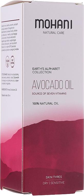 Olio naturale di avocado - Mohani Avocado Oil