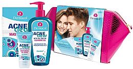 Profumi e cosmetici Set - Dermacol Acneclear (clean/gel/200ml + gel/cr/50ml + f/mask/2x8ml)