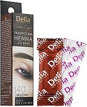 Profumi e cosmetici Tinta-Henné sopracciglia, marrone - Delia Brow Dye Henna Traditional Brown