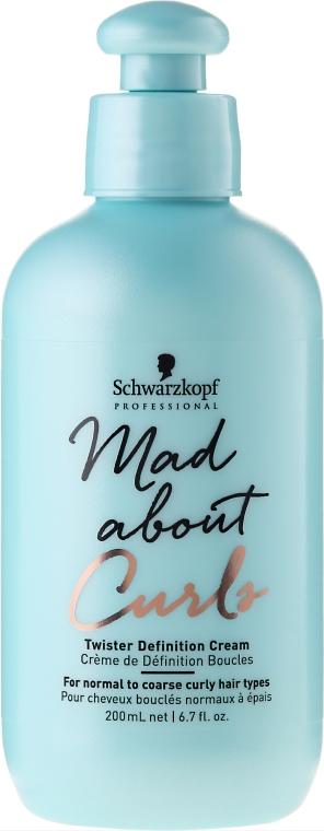 Crema testurizzante per capelli ricci - Schwarzkopf Professional Mad About Curls Twister Definition Cream