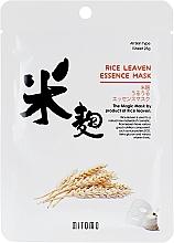 Profumi e cosmetici Maschera viso in tessuto all'estratto di crusca di riso - Mitomo Rice Leaven Essence Mask