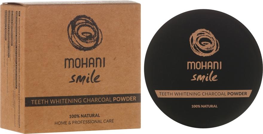 Polvere sbiancante per denti - Mohani Smile Teeth Whitening Charcoal Powder