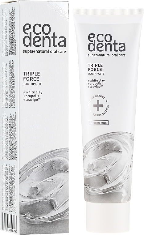 Dentifricio triplo effetto, con argilla bianca e propoli - Ecodenta Extra Toothpaste