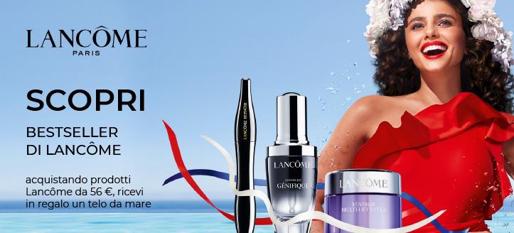 Telo da mare in regalo, acquistando prodotti Lancôme da 56 €