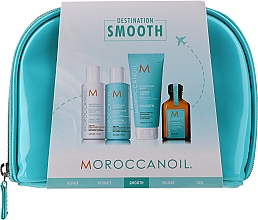 Profumi e cosmetici Set - Moroccanoil Smooth & Sleek Travel Kit (shm/70ml + cond/70ml + mask/75ml + oil/25ml + bag)