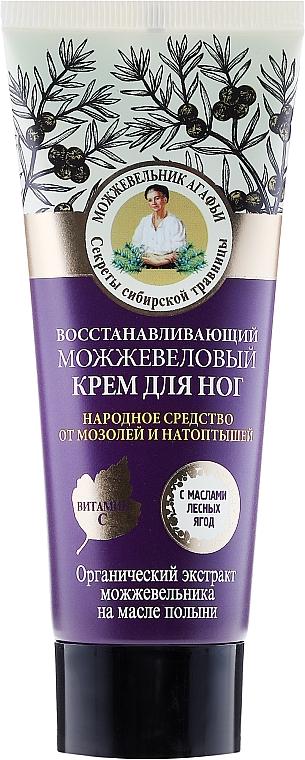 Crema piedi rigenerante con ginepro - Retzepty Babushki Agafia Juniper Repairing Foot Cream — foto N1