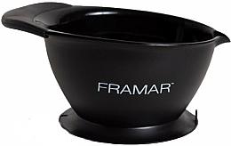 Profumi e cosmetici Ciotola per tinta per capelli con ventosa, nero - Framar SureGrip Suction Bowl Black