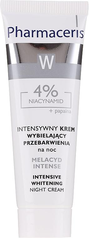 Crema sbiancante, da notte - Pharmaceris Melacyd Intense Whitening Night Face Cream — foto N1