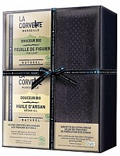 Profumi e cosmetici Set - La Corvette Douceur Bio Gift Box (soap/2x100g + towel/1pcs)