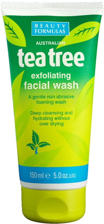 "Gel detergente viso ""Albero del tè"" - Beauty Formulas Tea Tree Exfoliating Facial Wash"