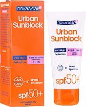 Profumi e cosmetici Crema solare per pelle sensibile - Novaclear Urban Sunblock Protective Cream Sensitive Skin SPF50