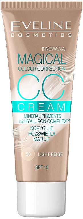 Crema viso CC - Eveline Cosmetics Magical CC Cream SPF15