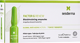 Profumi e cosmetici Fiale viso - SesDerma Laboratories Factor G Renew Biostimulating Ampoules Anti-Ageing Action