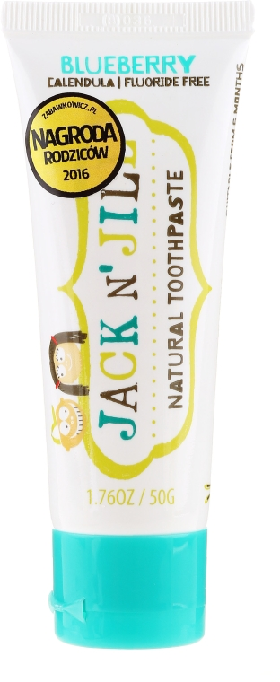 Dentifricio naturale con sapore di mirtillo - Jack N' Jill Natural Toothpaste Blueberry — foto N1