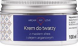 Profumi e cosmetici Crema nutriente viso, con burro di karité e olio di argan - Argan My Love Nourishing Face Cream With Shea Butter And Argan Oil