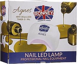 Profumi e cosmetici Lampada LED per unghie, enera - Ronney Profesional Agnes Pro LED 48W (GY-LED-032)