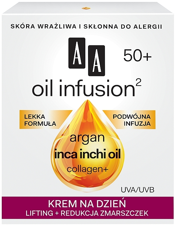 Crema-lifting antirughe da giorno - AA Oil Infusion Day Lifting Cream For Wrinkles 50+ — foto N1