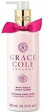 Profumi e cosmetici Lozione mani - Grace Cole White Rose & Lotus Flower Hand Lotion