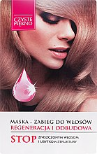 """Profumi e cosmetici Maschera per capelli """"Rigenerazione e ricostruzione"""" - Hair Recovery & Recovery Hair Czyste Piękno"""