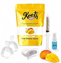 "Profumi e cosmetici Set sbiancante per denti ""Mango"" - Keeth Mango Teeth Whitening Kit"