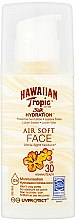 Profumi e cosmetici Crema solare per viso - Hawaiian Tropic Silk Hydration Air Soft Face Protective Sun Lotion SPF 30