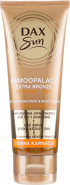 Autoabbronzante per la pelle scura - DAX Sun Extra Bronze Dark Skin Self-Tanning Cream — foto N1