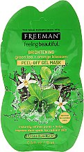 "Profumi e cosmetici Maschera-peel off ""Tè verde e fiori d'arancio"" - Freeman Feeling Beautiful Brightening Green Tea+Ornge Blossom Peel-Off Gel Mask (mini)"