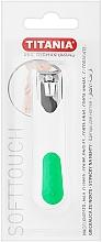 Profumi e cosmetici Tagliaunghie cromato, bianco con verde - Titania