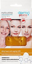 Profumi e cosmetici Maschera viso all'idrocollagene - Dermo Pharma Gold Anti-Aging Laser 24K