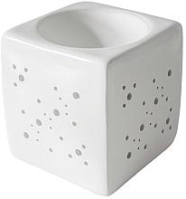 Profumi e cosmetici Lampada per aromi quadrata, bianca - Flagolie By Paese Cube Fireplace White