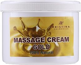 """Profumi e cosmetici Crema da massaggio per viso e corpo """"Gold"""" - Hristina Cosmetics Gold Massage Cream"""