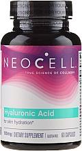 "Profumi e cosmetici Acido ialuronico ""Idratante naturale"", 100 mg, 60 compresse - NeoCell Hyaluronic Acid"