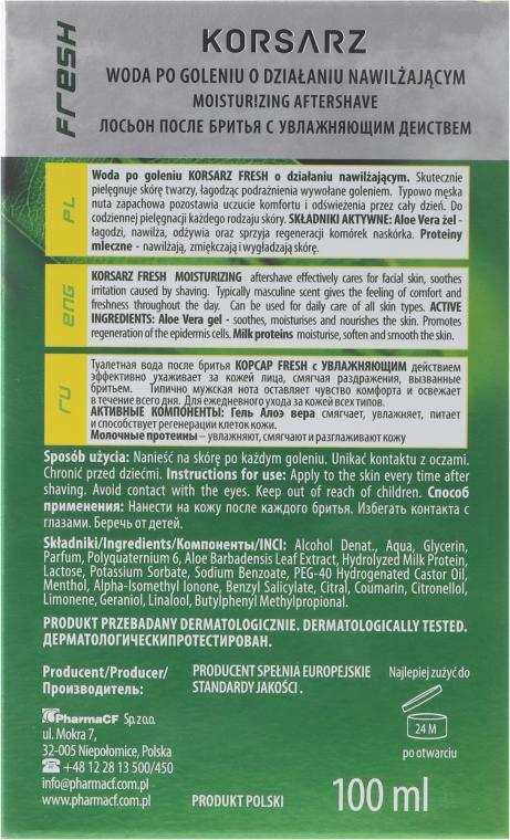 "Lozione dopobarba ""Fresh"" - Pharma CF Korsarz After Shave Lotion — foto N3"