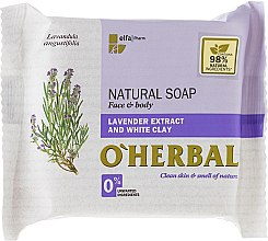 Profumi e cosmetici Sapone naturale con estratto di lavanda e argilla bianca - O'Herbal Natural Soap