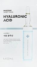 Profumi e cosmetici Maschera viso idratante all'acido ialuronico - Missha Mascure Hydra Solution Sheet Mask