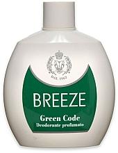 Profumi e cosmetici Breeze Green Code Deo Squeeze - Deodorante profumato