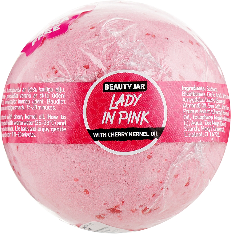 "Bomba da bagno ""Lady In Pink"" - Beauty Jar Natural Bath Bomb"