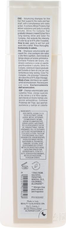 Shampoo volumizzante - Alfaparf Semi di Lino Volume Magnifying Shampoo — foto N2